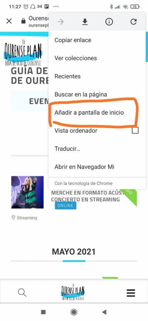 Añadir Acceso Ourense Plan